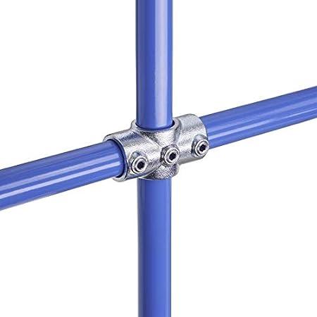 WITTKOWARE Rohrverbinder aus verzinktem Temperguss 42,4mm 1 /¼ 1 1//4 lackierbar /Ø 42,4mm Rohr-Torscharnier