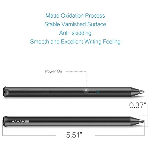 HAHAKEE iPad Stylus Pen,Rechargeable High Precision Capacitive Stylus for iPad Series,Supports 40hrs Continuous Work & 30 Days Stand-by,Passed FCC Certification