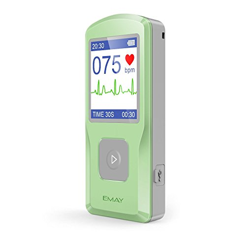 EMAY Handheld EKG Monitor (EMG-10) | Helps Detect Cardiac Abnormalities Anytime, Anywhere by Emay
