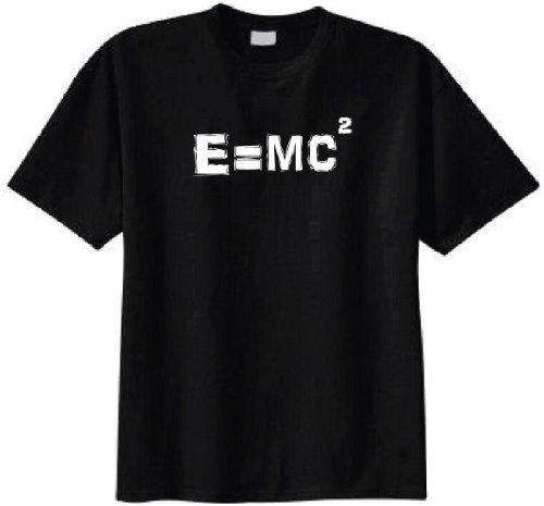 2b8a372a Albert Einstein E=MC2 Equation T-shirt (Small, Black)