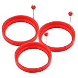 3 Pcs Silicone Fried Egg Rings Pancake Mold, Non Stick Bakeware Accessories Kitchen Tools