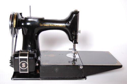 Singer Featherweight 221-1 Cara de desplazamiento de máquina de coser antigua, trabajo c. 1940: Amazon.es: Hogar