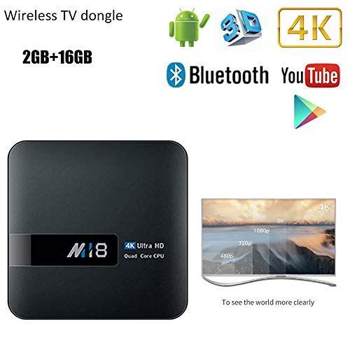 WXJHA 4K Smart TV Box Android 7.1 64Bits Quad-Core 2G RAM 16G ROM Wireless Wfii Media Player Ultra HD 2.4Ghz Set Top Box