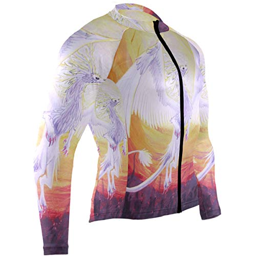 Judgement Dragon Mens Cycling Jersey Jacket Long Sleeve Road Bike Clothes Outfit