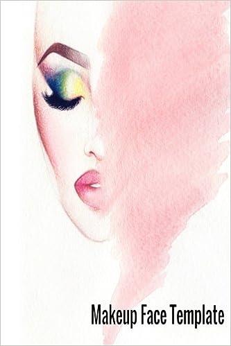 Makeup Face Template: Face Chart Book Large 8.5x11: Pink Tree ...
