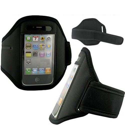 Armband Sports Gym Workout Cover Case Running Arm Strap Band Pouch Neoprene Black for AT&T Samsung A177 - AT&T Samsung Blackjack i607 - AT&T Samsung Eternity A867 - AT&T Samsung Focus Flash Blackjack Touch Screen