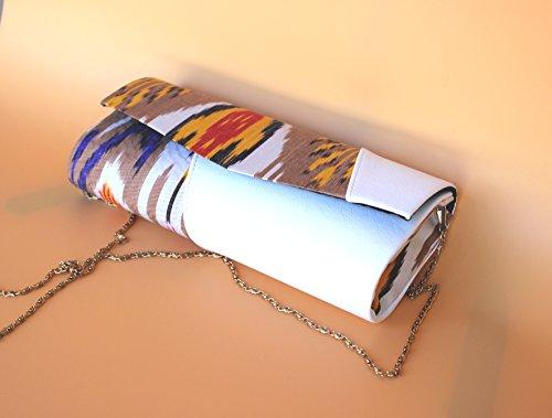 - EASTDREAM Evening clutch purse, HANDBAG PURSE, Silk ikat purse, Designer clutches, Womens handbag purse, Ikat clutch