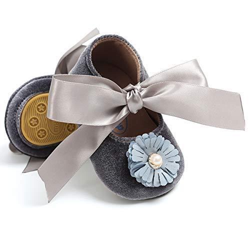 653d6d01d5c84 LIVEBOX Infant Newborn Baby Girl Shoes, Premium Soft Anti-Slip Bow Crib  Shoes Prewalker Toddler Mary Jane Princess Dress Shoes with Strap  Accessories ...