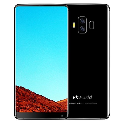 VKWORLD S8 4GB+64GB Dual Sim Smartphone 18:9 Aspect Ratio 4G 5.99 Inch Full Screen Android 7.0 FHD 5500 mAh Face ID (Black)