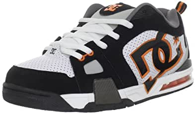 DC Men's Frenzy Action Sports Shoe,Black/White/Orange,12 M US