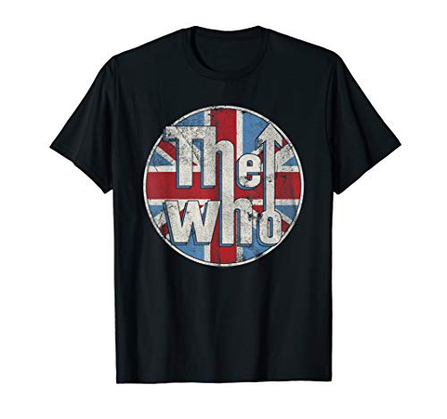 (The Who Official Distressed Union Jack Circle Logo T-Shirt)
