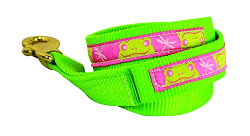 (Perri's Nylon Lead with Snap, Lime Frogs)