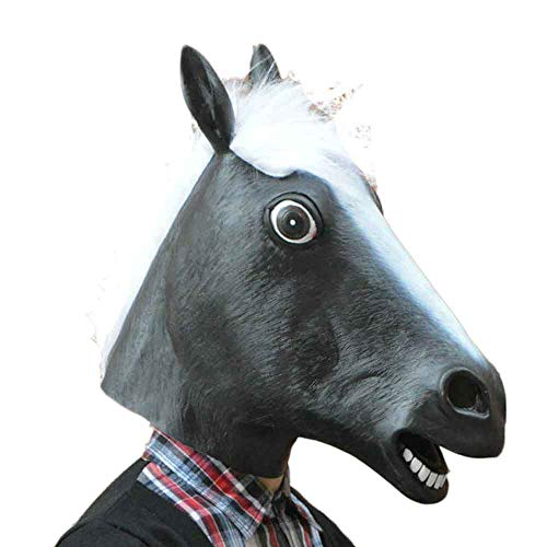 Halloween Party Mask,KIKOY Horse Head Cosplay Prom Costume Latex Prop -
