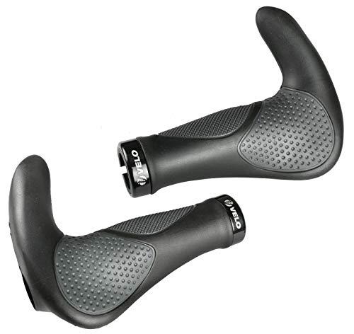 VELO VLG-1185AD3 138mm MTB Bike Bicycle Grips Handlebar with Bar-end