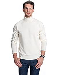 Men's 100% Pure Cashmere Turtleneck Long Sleeve Pullover Sweater