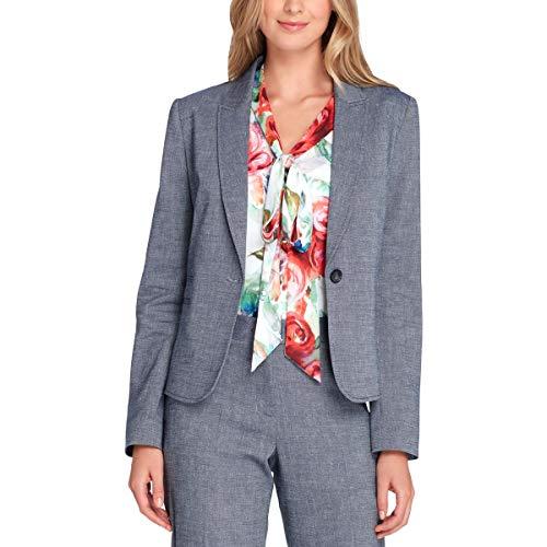 Tahari ASL Womens Office Business One-Button Blazer Blue 12