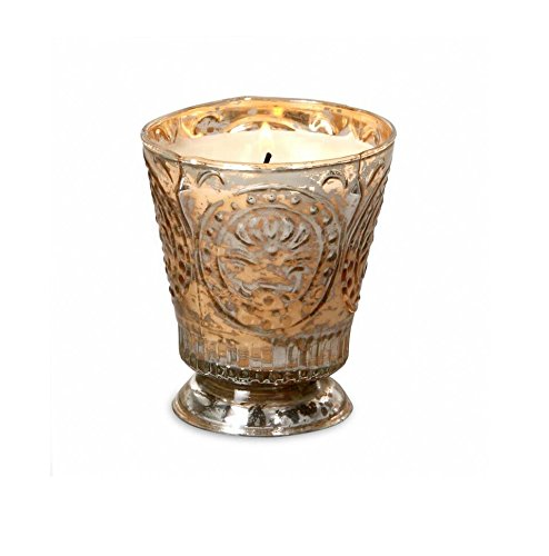 Himalayan Candles Fleur de Lys Soy Candle Tumbler, Red Currant, - Antique Wax Pine