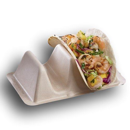 Pulp Fiber Disposable Taco Stand Up Divider/Holder by MT Products - (15 Pieces)