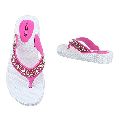Ital-Design - Zapatos con tacón Mujer rosa y blanco