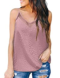 Eddoyee Women Sexy Mesh Print Camisole Tank Tops Sleeveless Cami Blouse Summer Casual