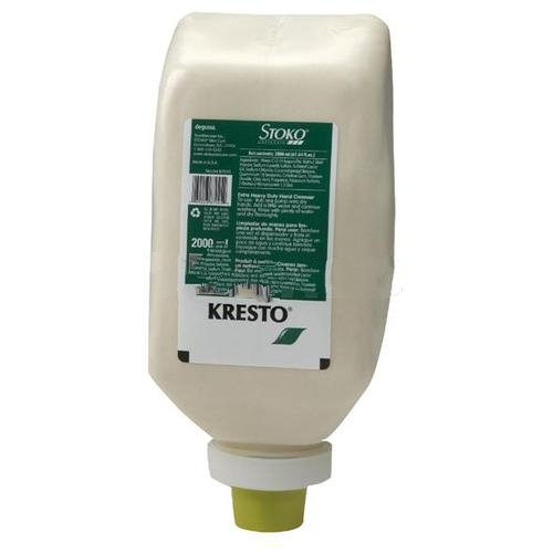 Stoko Skin Care Kresto Extra Heavy Duty Hand Cleaner - 2000ml Softbottle (6 per case) by Stoko Skin Care (Image #1)