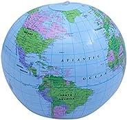 POPETPOP World Globe Toy Educational World Globe Inflatable Globe Beach Ball Globe Colorful PVC World Globe fo