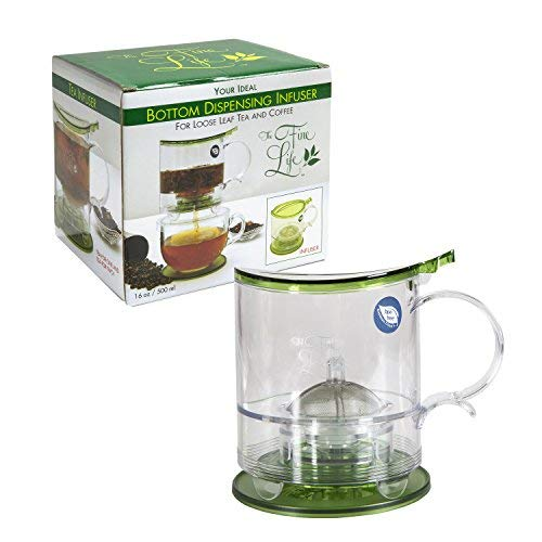 - The Fine Life Coffee Brewer and Loose Leaf Teapot Infuser - Replace Your French Press - 16 oz. - Includes Acrylic Spoon, Acrylic Extender Ring, and Additional Filter