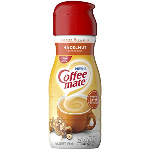 Coffee Mate Liquid Creamer, Hazelnut, 16 oz., 6 Count