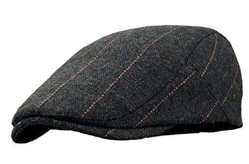 SportsWell Men's Classic Wool Cabbie Driving duckbill Hat IVY Flat Cap newsboy (Rays Classic Wool)