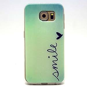YULIN Teléfono Móvil Samsung - Cobertor Posterior - Gráfico/Diseño Especial - para Samsung Samsung Galaxy S6 ( Multi-color , TPU )
