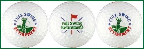Retirement w/ Golfer Golf Ball Gift Set