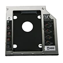 Replacement Universal 9.5mm SATA to SATA 2nd HDD Hard Drive Caddy for HP Compaq Dell MacBook Pro