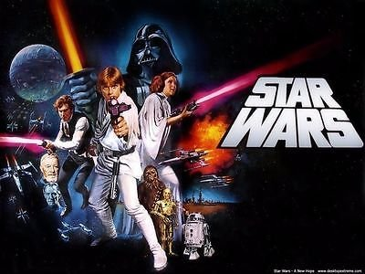 sdore Star Wars comestible 1/2 media hoja imagen pastillaje ...
