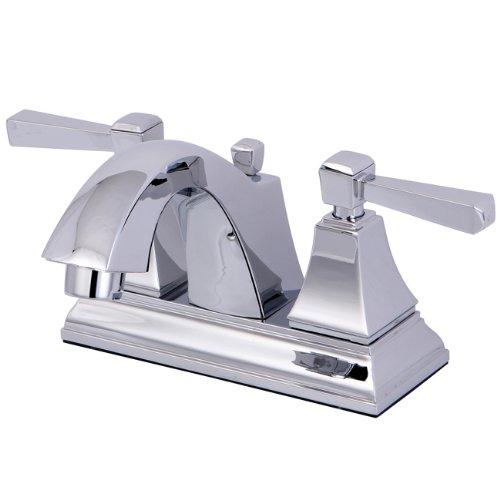 Kingston Brass Centerset High Arc Bathroom Faucet Polished Chrome