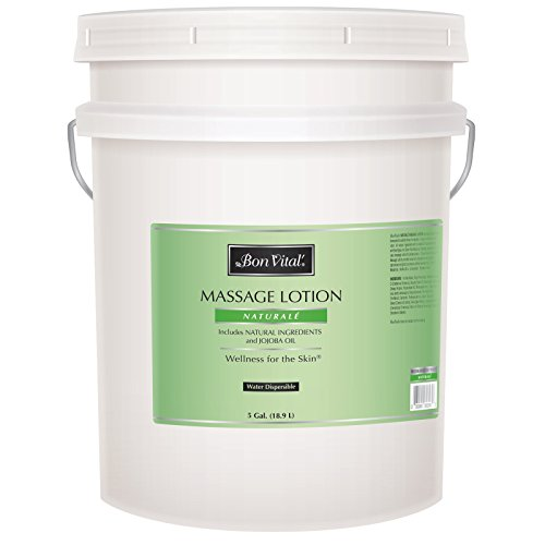 Bon Vital' Naturale Massage Lotion Made with Natural Ingredients for an Earth-Friendly and Relaxing Massage, All Natural Moisturizer, Relieves Muscle Soreness and Increases Circulation, 5 Gallon Pail (Massage Bon Naturale Lotion Vital)