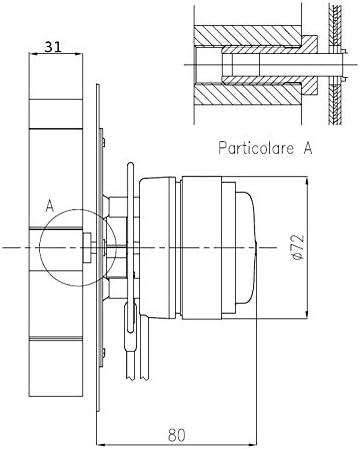 moteur Ecofit 2RECA3 avec encodeur Fandis VFC2C23 Easyricambi Ventilateur extracteur de fum/ée pour po/êle /à granul/és