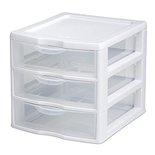 STERILITE 3 Drawer Mini Unit 20738006 Clear  sc 1 st  Amazon.com & Plastic Storage Containers with Drawers: Amazon.com