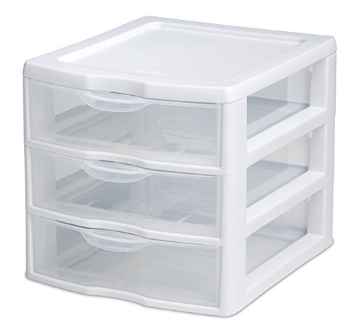 STERILITE 3 Drawer Mini Unit 20738006, Clear