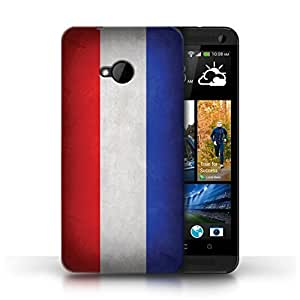 KOBALT? Protective Hard Back Phone Case / Cover for HTC One/1 M7   Netherlands Design   Flags Collection
