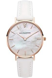 Paul Valentine - Reloj de Pulsera para Mujer (32 mm), Color Dorado y