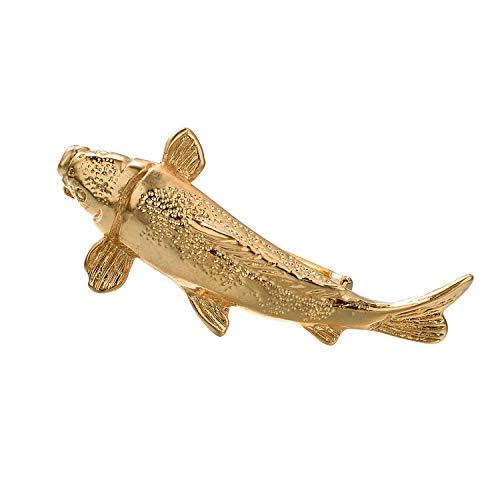 (Yoursfs Fish Tie Clip Tack for Men Fashion Gold Fish Tie Clip Fishing Gift)