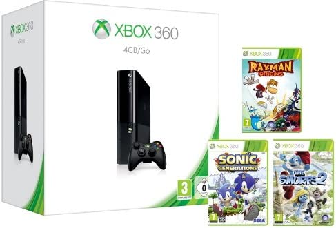 Xbox 360 4Gb Console With Wireless Controller And 3 Game Family ...