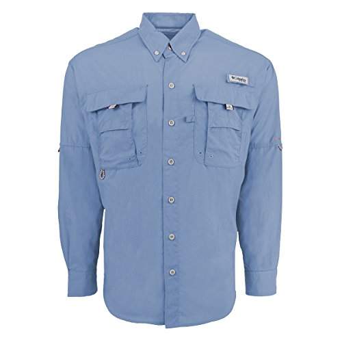 Columbia Men's Bahama II Long Sleeve Shirt, Sail, X-Large