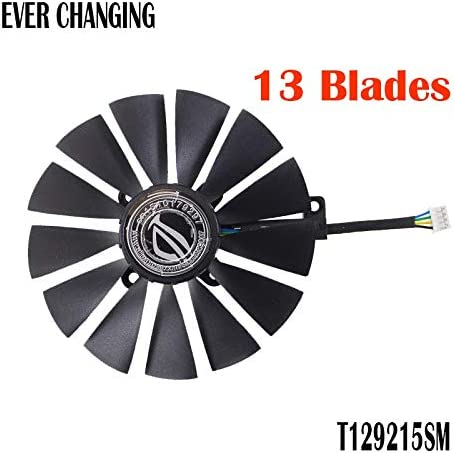 Fans & Cooling - T129215SM 0.25AMP PLD10010S12H 0.30A 95mm VGA Fan For STRIX RX470 O4G Gaming 4PIN 13 blades Cooling Fan
