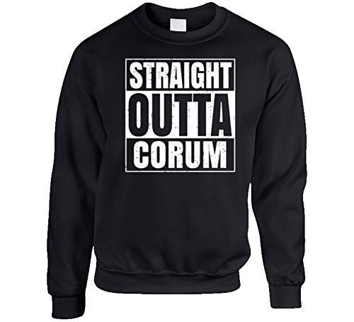 (Tshirtshark Straight Outta Corum Turkey City Grunge Parody Crewneck Sweatshirt M Black )