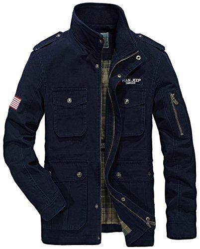 Uomo Yyzyy Marine Bleu Camicia Giacca 4xxvZqUEw