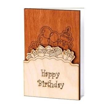Amazon Handmade Sustainable Real Wood Happy Birthday Wishes