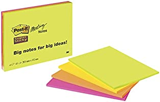 Post-it Meeting Notes Super Sticky -203 x 152 mm - Lot de 4