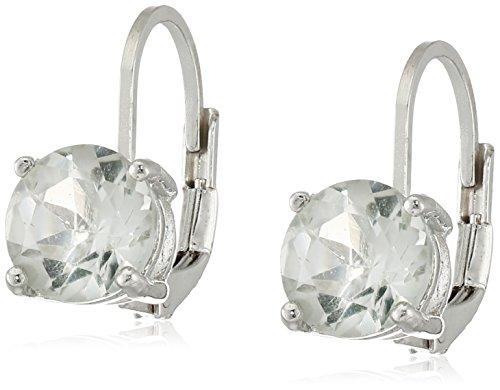 Sterling Silver Gemstone Dangle Earrings (7mm)