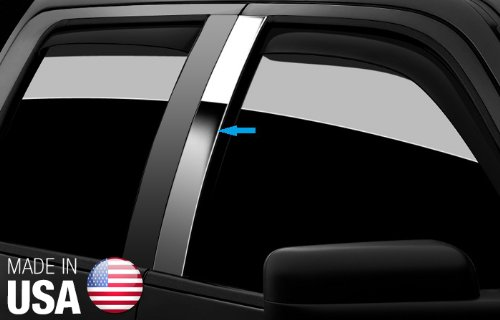 Made in USA! Works with 2008-2012 Honda Accord Coupe 2 PC Stainless Steel Chrome Pillar Post Trim